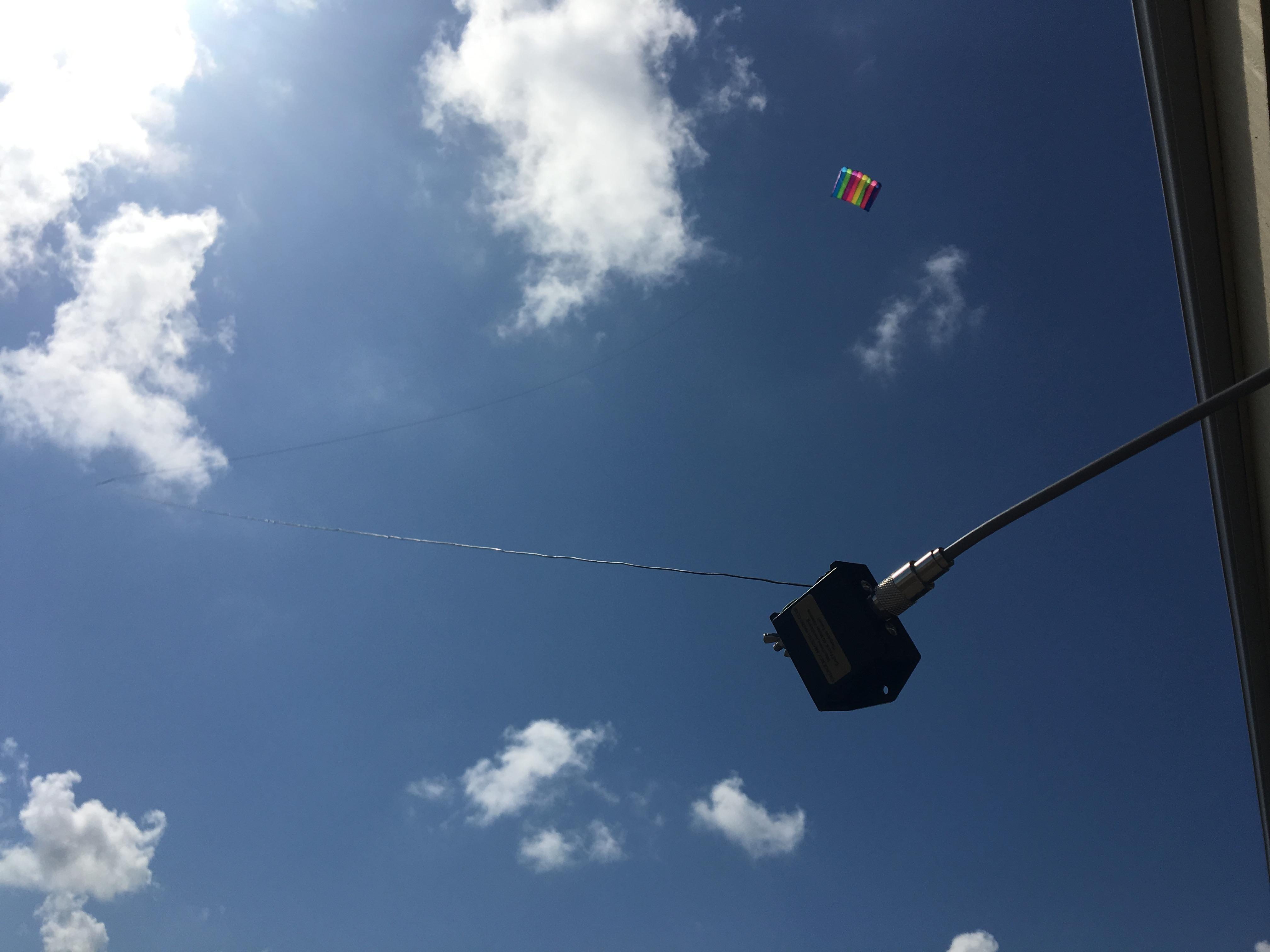 Let There Be Lights And Kites Again >> N5dux Kite Antenna